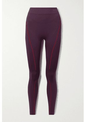 FALKE Ergonomic Sport System - Stretch-knit Leggings - Dark purple