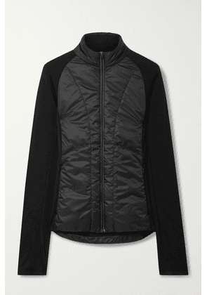 FALKE Ergonomic Sport System - Quilted Shell And Stretch-knit Jacket - Black