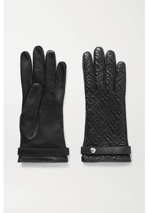 Burberry - Quilted Leather Gloves - Black