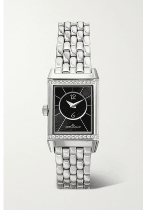 Jaeger-LeCoultre - Reverso Classic Duetto Small Hand-wound Stainless Steel And Diamond Watch - Silver