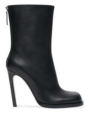 Burberry vintage check-lined leather ankle boots - Black