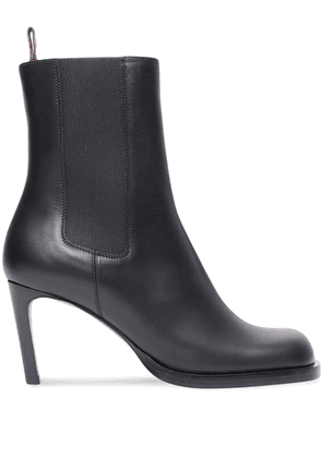 Burberry elasticated boots with stiletto heel - BLACK