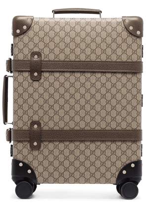 Gucci Globetrotter GG Supreme pattern suitcase - Brown