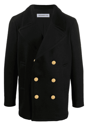 Department 5 double-breasted military jacket - Black