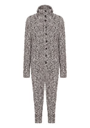 Dolce & Gabbana wool-blend speckled jumpsuit - White