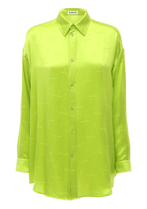 Allover Logo Jacquard Silk Shirt