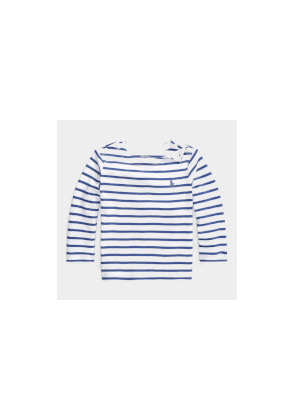 Polo Ralph Lauren Stripe Long Sleeve Top - White - 3 Months