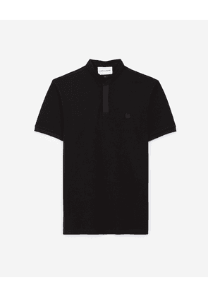 The Kooples - Black polo with brown detail - MEN