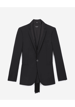 The Kooples - Black wool jacket with jewel buttons - MEN