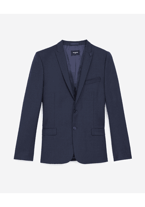 The Kooples - Navy blue formal jacket with motif - MEN