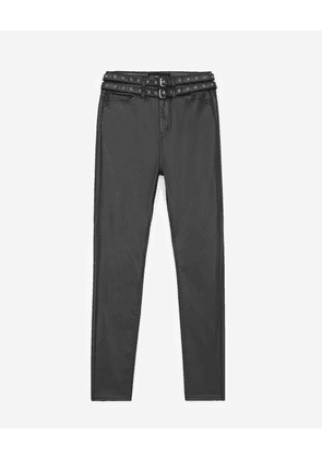 The Kooples - Faux leather jeans with double belt - WOMEN