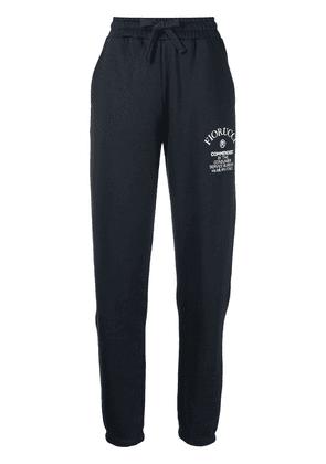 Fiorucci Commended logo-print track pants - Blue