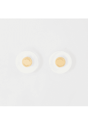 Burberry Resin and Gold-plated Earrings