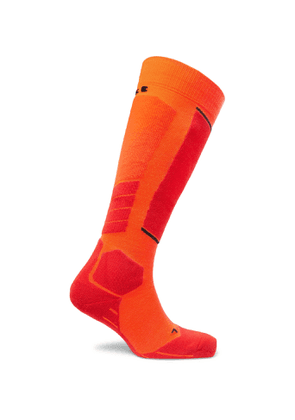 FALKE Ergonomic Sport System - SK2 Stretch-Knit Ski Socks - Men - Orange