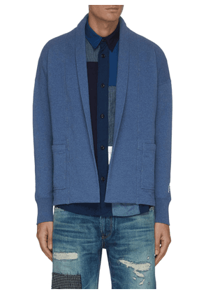 Front Crease Patch Pocket Cardigan