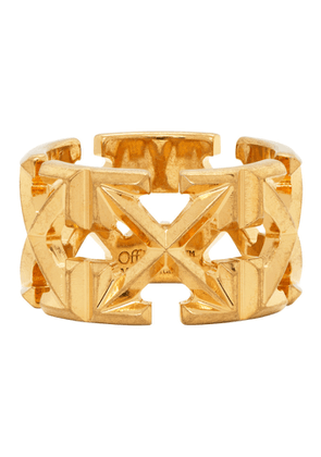 Off-White Gold Arrows Ring