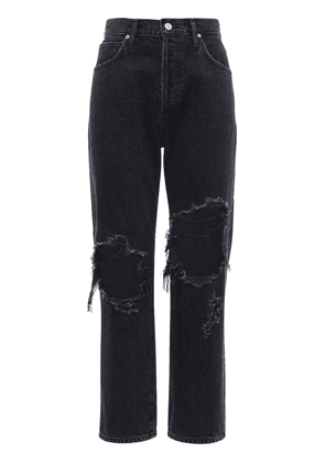 Emery Crop Relaxed Straight Cotton Jeans