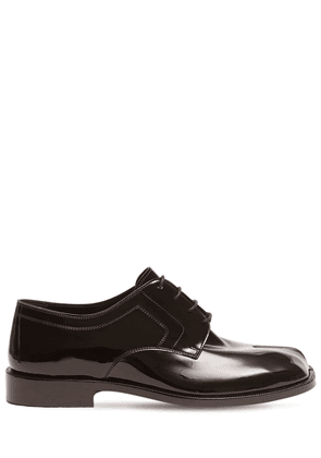 Patent Leather Lace-up Tabi Shoes