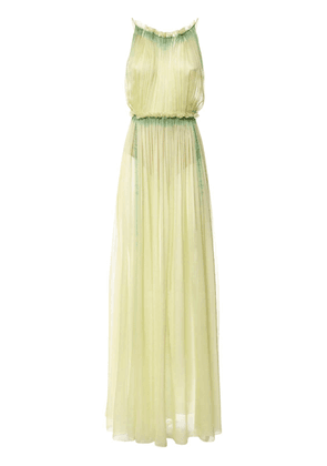 Tie Dye Silk Chiffon Long Dress