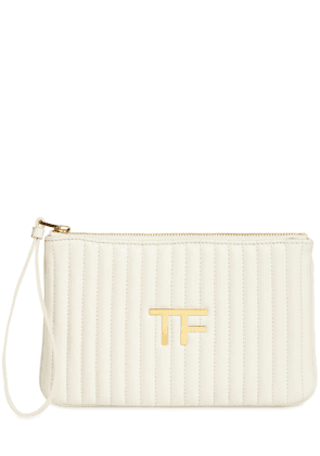 Tf Quilted Leather Pouch