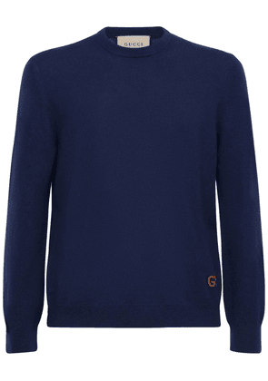 Gg Embroidery Cashmere Sweater