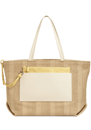 Inside Out Oasi Rug & Leather Tote Bag