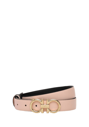 2.5cm Double-faced Leather Belt