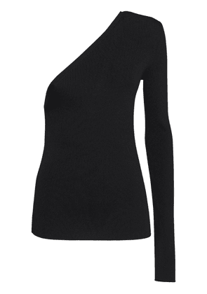 Papaille Ribbed One Shoulder Sweater