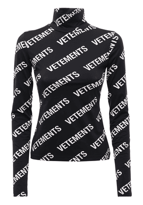All-over Logo Fitted Turtleneck