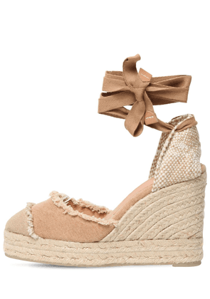 80mm Catalina Canvas Espadrille Wedges