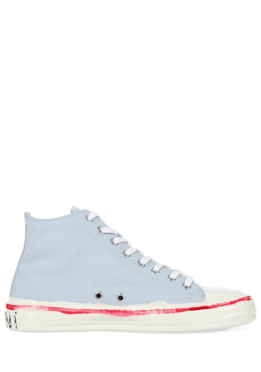 10mm Cotton Canvas High Top Sneakers