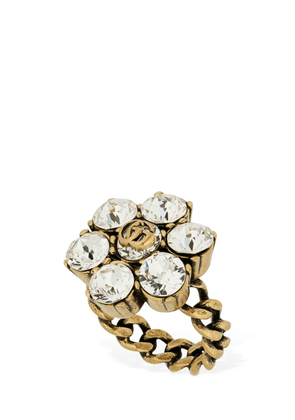 Gg Marmont Thick Ring W/ Crystal