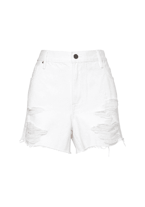 Le Grand Garcon Distressed Denim Shorts