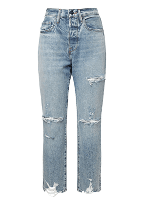 Le Orginal Distressed Straight Jeans