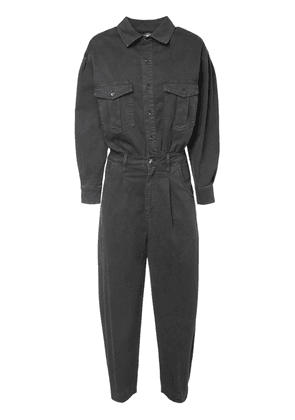 Pleated Barrel Leg Jumpsuit