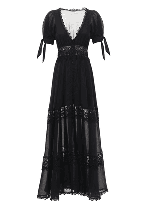 Thelma Voile & Broderie Long Dress