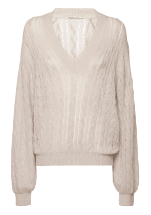 Cashmere Drop Needle Cable Knit Sweater