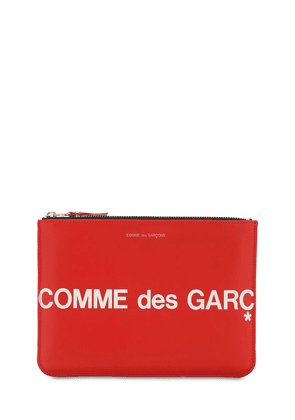 Maxi Logo Leather Pouch