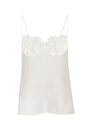 Silk and lace camisole