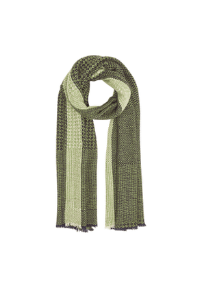 Green and Black Patterned Scarf