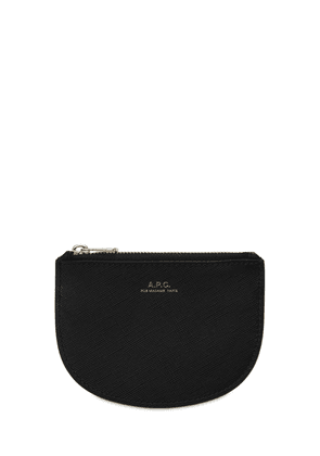 Demi Lune Leather Zip Coin Wallet