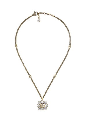 Gucci pearl double G necklace - GOLD
