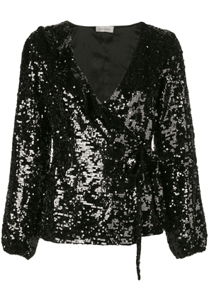 Beau Souci sequin v-neck top - Black
