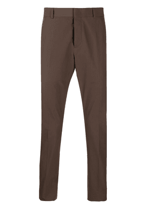 Valentino contrast tape slim-fit trousers - Brown