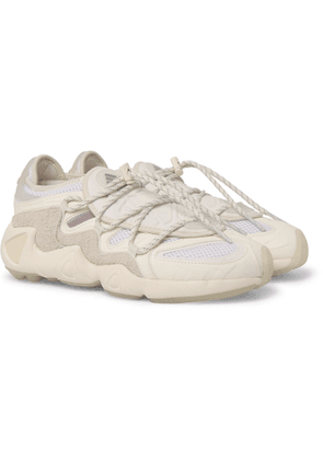ADIDAS CONSORTIUM - 032c Salvation Suede, Leather and Mesh Sneakers - Men - Neutrals - UK 12