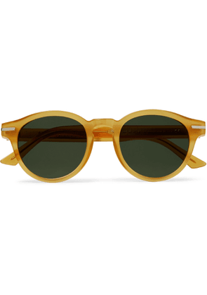 CUTLER AND GROSS - 1338 Round-Frame Acetate Sunglasses - Men - Yellow