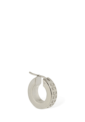 Engraved Arrow Mono Hoop Earring