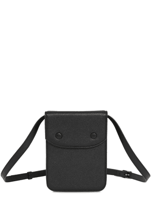 Embossed Grained Leather Crossbody Bag