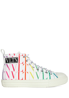 Vltn Times Cotton High Top Sneakers