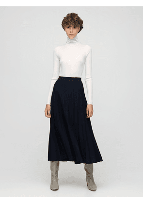 Mitford Pleated Wool Knit Skirt